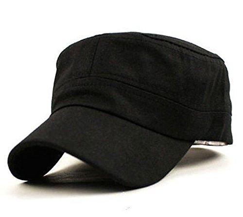 [ノーブランド品]男女 兼用 シンプル 帽子 フリーサイズ (黒 ブラック 綿)