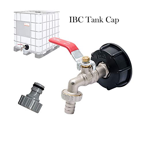BE-TOOL IBC Tank Adapter, IBC TOTE TANK DRAIN ADAPTER S60X6 To Brass Garden Tap With 1/2' Hose Fitting Oil Fuel Water