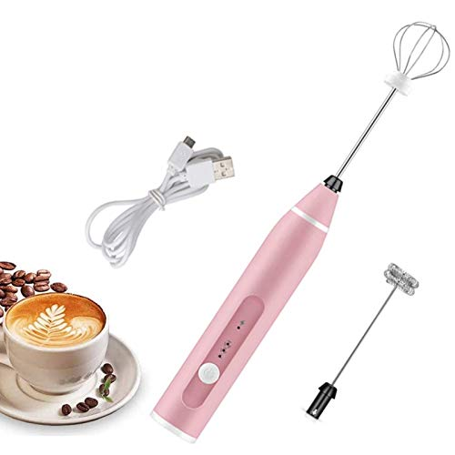 aycpg Milk Frother Coffee Frother Electric Whisk Portable Milk USB Cable 3 Adjustable Milk Bubbler for Beating Hot Chocolate Latte Cappuccino