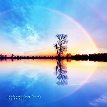 A sky filled lake