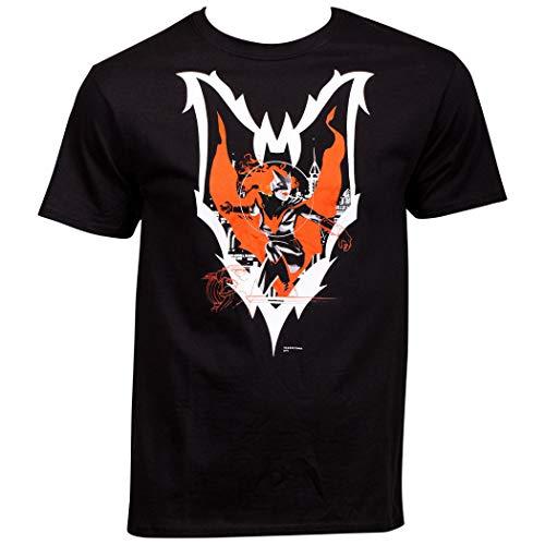 Batwoman Camiseta com símbolo do personagem Pose Inside, Preto, S