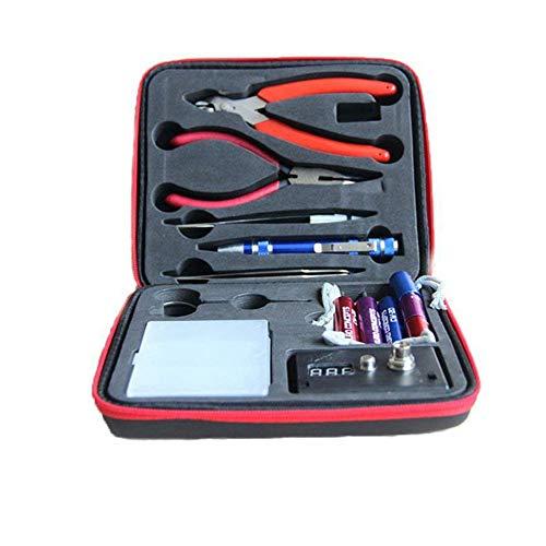 HMMJ Hausbesitzer Diy Werkzeug-Kit, 3 In 1 Coil Jig Wicklung Set + Nadel Nase Zangen + Drahtschneider + Keramik Pinzette + Scimitar Edelstahl Pinzette + Schere + Ohm-Meter-Test
