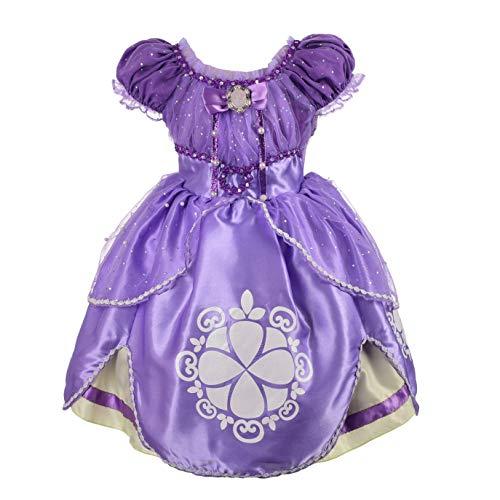 Lito Angels Prinzessin Sofia Die Erste Kleid Kostüm Kinder Mädchen Geburtstag Weihnachten Halloween Party Verkleidung Karneval Cosplay 4-5 Jahre