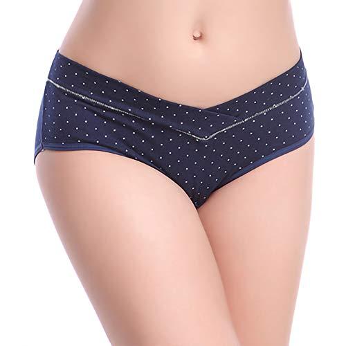 KSWX Unterwäsche für Schwangere Damenunterwäsche aus Baumwolle mit niedriger Taille Baumwolle, kurzer Bauchlift, Kurze, Nahtlose, große U-förmige Unterwäsche für Schwangere Frauen, 3-teilig,E,M