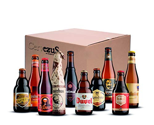 Cervezas Belgas (Pack 10 variedades) - Cerveza Belga - Pack Cervezas Belgas - Cervezas del Mundo Regalo - Pack Cervezas del Mundo Regalo - Cervezas del Mundo - Regalo Cervecero - Cerveza Regalo