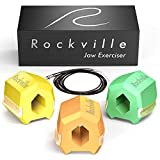 Rockville Jawline Exerciser Flavored Set - Fruit Scented Face Slimmer, Double Chin Reducer & Jaw Exerciser for Men and Women, 3 Pack Jaw Workout with 40, 50 and 60 LB Resistance, Jawline Shaper