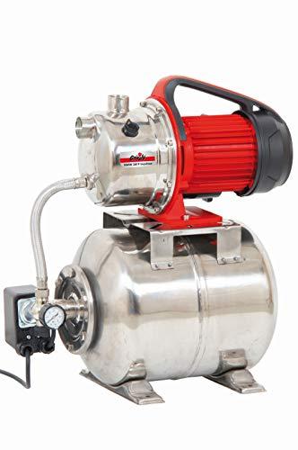 Grizzly Tools Edelstahl Hauswasserwerk HWW 3819 Inox Pumpe Hauspumpe - 1000 Watt - 3800 l/h - Edelstahl-Gehäuse