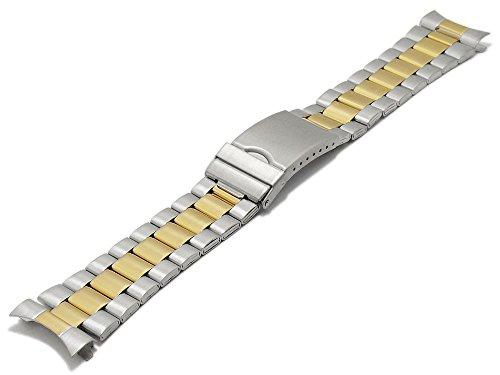 Meyhofer Uhrenarmband Livonia 22-24-26mm Bicolor Silber/goldfarben Edelstahl Wechselanstoß MyCskmb7020