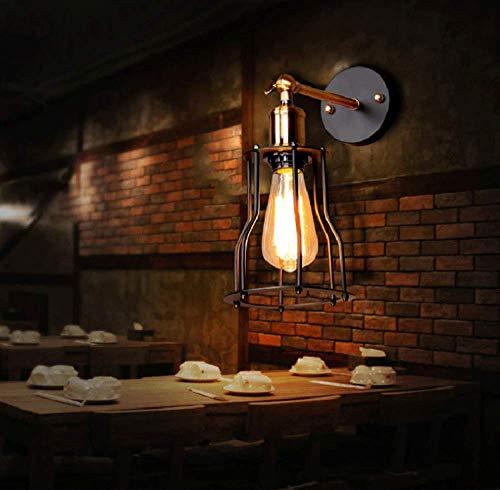 Led-industriële wandlamp, vintage, E27-fitting, plafondlamp, instelbare metalen lampenkap, decoratie, retro, binnenwandlamp voor woonkamer, slaapkamer, hal, cafébar