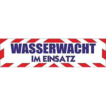 Indigos Ug Magnetschild Wasserwacht Im Einsatz 30 X 8 Cm Reflektierend Magnetfolie Für Auto Lkw Truck Baustelle Firma Auto