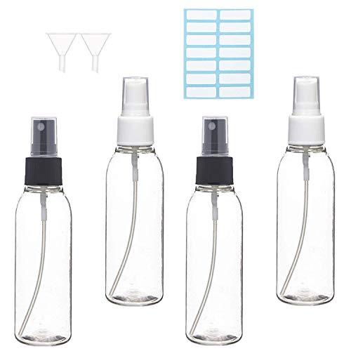 illuva 100ml sprühflasche kleinzerstäuber sprayflasche leer parfumzerstäuber tragbares reiseflaschen set mit trichteratomiser 4 * 100ml