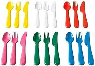 comprar comparacion Ikea Cubertería, Multicolor, 18x14x3 cm, 18 Unidades
