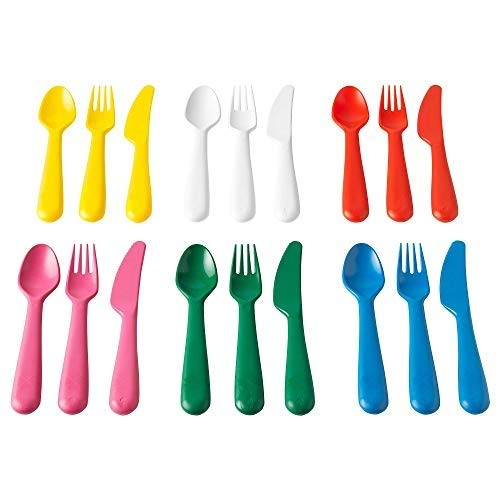 Ikea IKE-804.213.32, KALAS Besteck, Polypropylene, 18 x 14 x 3 cm, 18-Einheiten , assorted colours