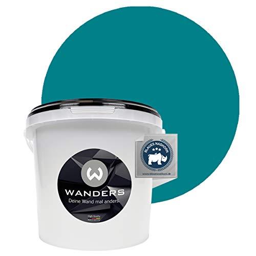 Wanders24® Tafelfarbe (3Liter, Türkis) Blackboard Paint - Tafellack - abwischbare Wandfarbe - in 20 Farbtönen erhältlich - Made in Germany