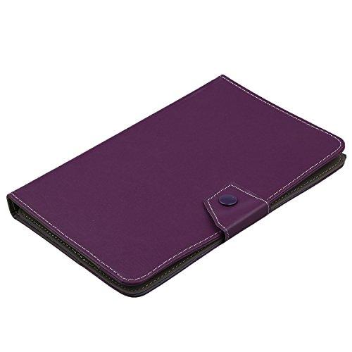 Hrsptudorc 9 Pulgadas Funda Universal Tablet PC Cristal Cuero de la PU Soporte cascara (Purpura)