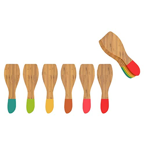Set de 6 spatules à raclette multicolores