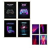 myDreamwork Gaming Poster | Poster Set | OHNE Bilderrahmen
