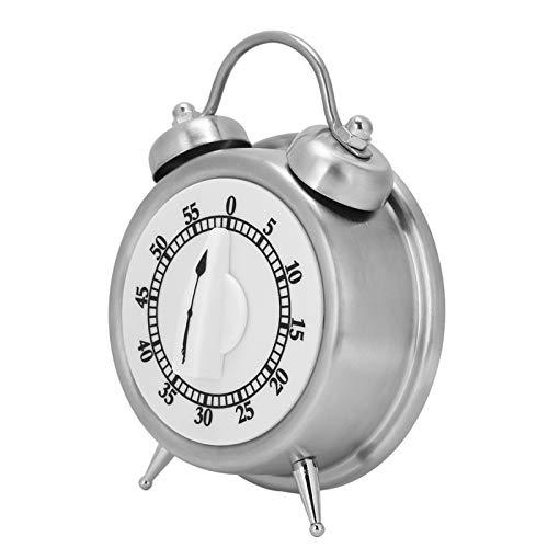 Temporizador mecánico, temporizador Temporizador de cocina Temporizador manual Pantalla de gran tamaño Material ABS Reloj despertador Forma para cocina Peluquería y centro de belleza