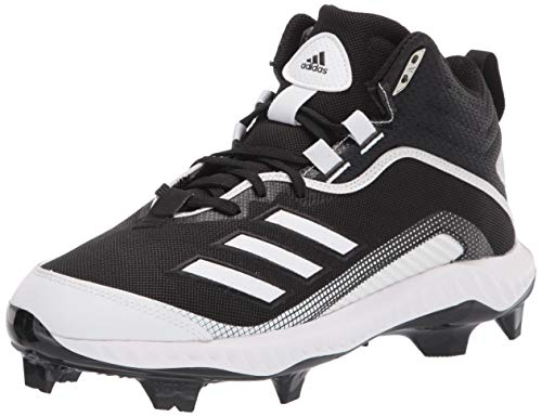 adidas Men's FV9367 Baseball Shoe, Black/White/White, 8.5