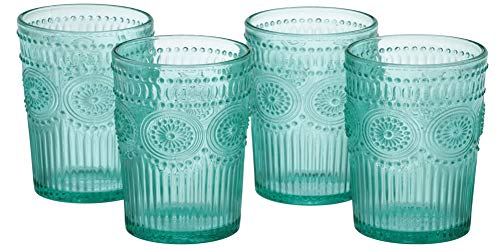 The Pioneer Woman Adeline 16-Ounce Emboss Glass Tumblers