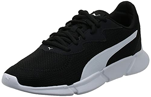 PUMA Unisex Adult INTERFLEX Runner Sneaker, Black White, 38 EU
