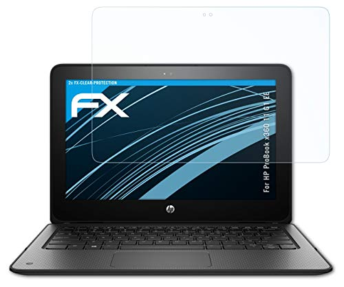 atFolix Schutzfolie kompatibel mit HP ProBook x360 11 G1 EE Folie, ultraklare FX Bildschirmschutzfolie (2X)