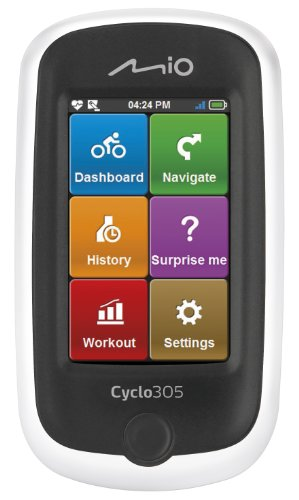 Mio Cyclo 305 Ciclocomputer con Dispositivo GPS Incorporato con Mappe Europa, OSM, TeleAtlas, con Fascia Cardio, Sensore Cadenza e Sensore Ruote