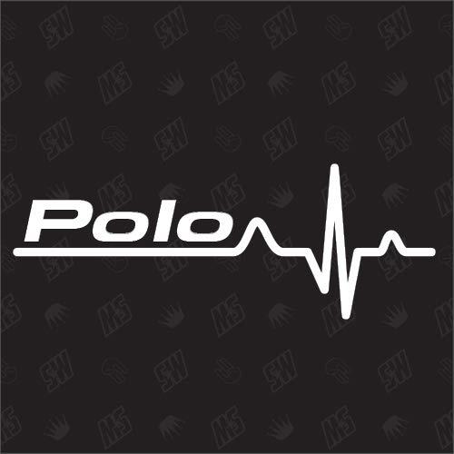Polo Herzschlag - Sticker für VW