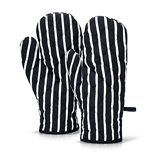 ZIMEL HOMES Cotton Heat Resistant Kitchen microwave ovens Glove, Pair of Gloves Mitts Oven mit, Hot pot holders for Cooking, Baking - Stylish Pack gloves Design & Colour (Blue)
