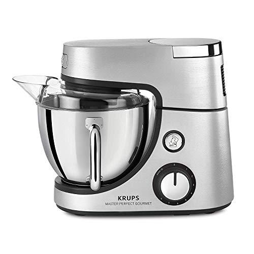 Krups Premium Küchenmaschine 17 teilig, 4,6L Edelstahlschüssel, Silikonschüssel, 4 Rührwerkzeuge Edelstahl, spülmaschinenfest, 1100W, Schnitzelwerk, Fleischwolf, Gratis Rezepte und 12er Cupcake Form - 3