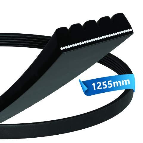 Correa trapezoidal 1255 PJ 5 E para lavadora de repuesto para Bosch, Balay, Constructa, Siemens, Neff 00439490 00678915