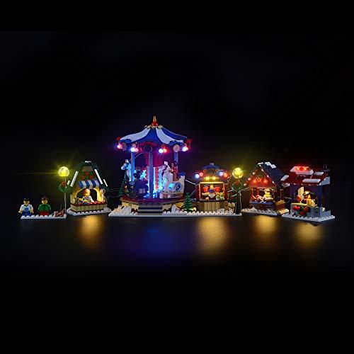 LIGHTAILING Licht-Set Für (Creator Winterlicher Markt) Modell - LED Licht-Set Kompatibel Mit Lego 10235(Modell Nicht Enthalten)