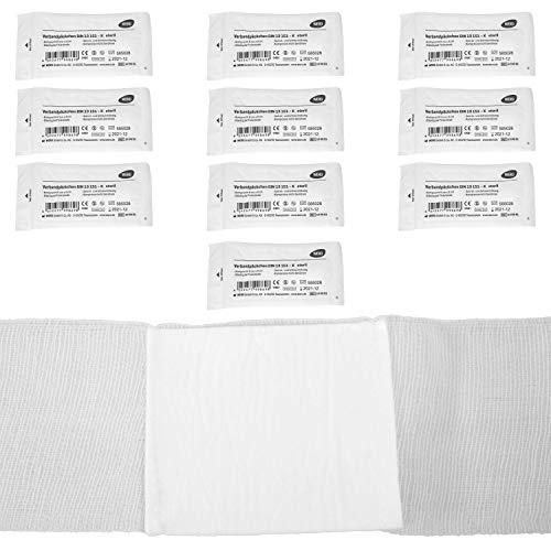 Verbandpäckchen DIN 13151-K, steril Kompresse 6x8cm (10 Stück)