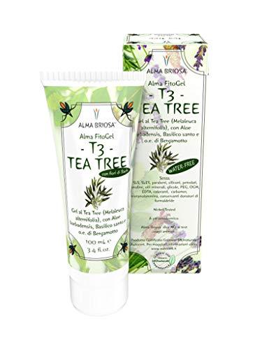 FitoGel T3 Tea Tree - Alma Briosa - gel multiuso a base di Tea Tree e Aloe - 100 ml