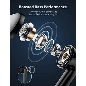 Wireless Earbuds TaoTronics SoundLiberty 95 True Wireless Earbuds Bluetooth 5.0 with aptX Codec Hi-Fi Audio, Deep Bass, Dual CVC 8.0 Noise Cancellation Mic for Clear Calls, USB-C Charging Case, Black