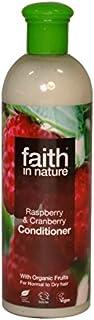 Faith in Nature Raspberry & Cranberry Conditioner 400ml (Pack of 6) - 自然ラズベリー&クランベリーコンディショナー400ミリリットルの信仰 (x6) [並行輸入品]
