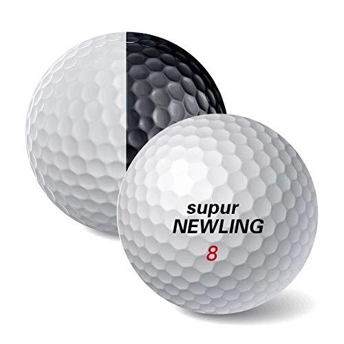 SianoS 1 PC-Golfball-Schwarz-weiße Kugeln 3 Schichten Golf PU-Kugel for Putter Praxis gerade Linie auf Putting-Green