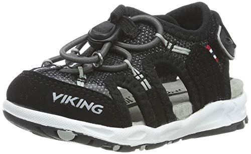 viking Thrill II, Unisex-Kinder Geschlossene Sandalen, Schwarz (Black/Grey 203), 35 EU (2.5 UK)