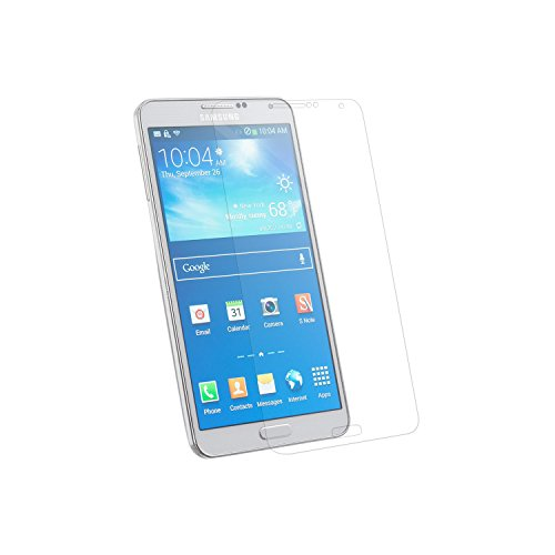 Simplecase Panzerglas passend zu Samsung Galaxy NOTE 3 , Premium Bildschirmschutz , Schutz durch Extra Festigkeitgrad 9H , Hülle Friendly , Echtglas / Verb&glas / Panzerglasfolie , Transparent - 1 Stück