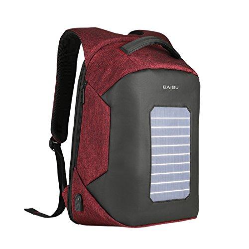 Cool&D Solar Rucksack 5 Watt Solar Paneel mit 2.0 USB-Port und mit USB-Ladeanschluss in...