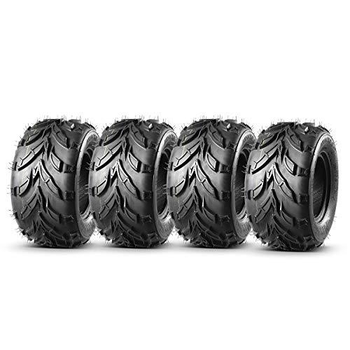 Set of 4 MaxAuto ATV Go-Karts 16x8-7 16x8x7 Tires All-Terrain Off Road ATV/ATC Tires Sand Mud Knobby ATV Tire 16/8-7, 4 Ply Rating Tubeless