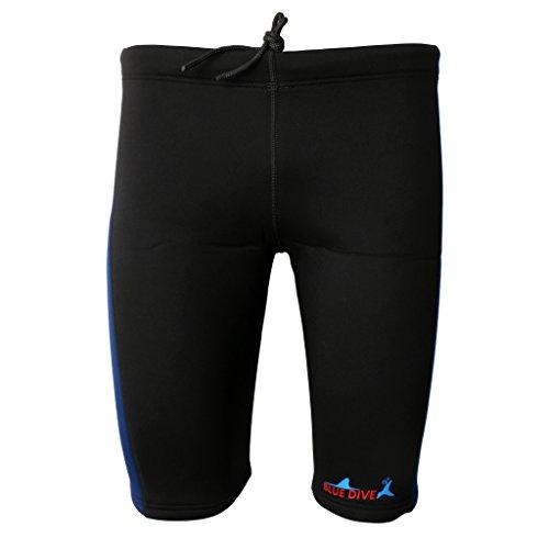 FLAMEER 3 mm de Neopreno Hombres Mujeres Cálidos Trajes de Neopreno Buceo Pantalones Cortos de Natación - Azul Marino y Negro, XXL