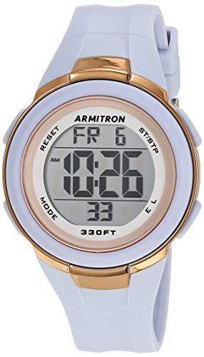 Armitron Sport Women's Digital Powder Blue Resin Strap Watch, 45/7126PBL