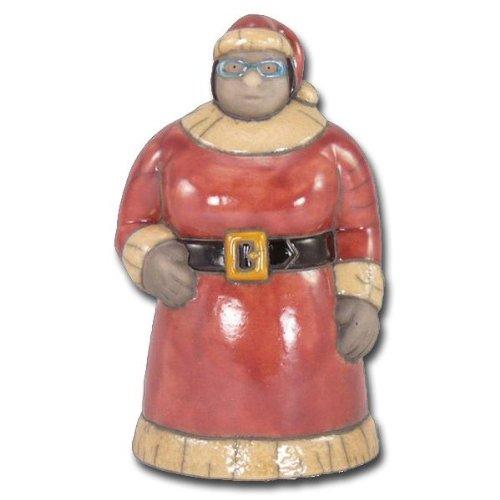 Weihnachtsfrau Keramikfigur