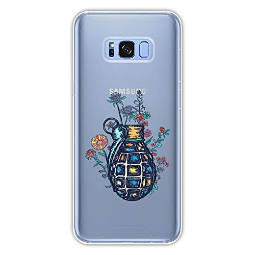 Hapdey Funda rígida para [ Samsung Galaxy S8 Plus - S8 Edge ] diseño [ Guerra y Paz ] Carcasa TPU, Transparente