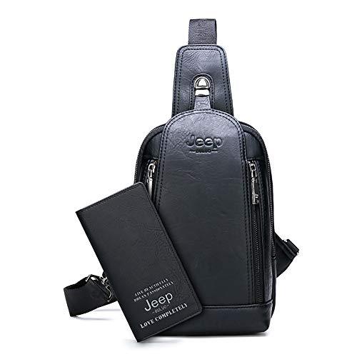 JEEP BULUO Sling Bag Crossbody Mochila de Hombro para Hombres jóvenes