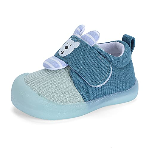 MASOCIO Chaussure Bebe Garcon Baskets Bébé Chaussures Premiers Pas Garçon 12-18 Mois Taille 20 Bleu