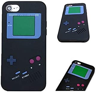 iPhone 6 Case,Retro 3D Game Boy Gameboy Design Style Soft Silicone Cover Case For New Apple iPhone 6 6S 4.7 inch,Not Fit For Apple iPhone 6 Plus 5.5 inch+ Free Cleaning Cloth As a gift (Black)