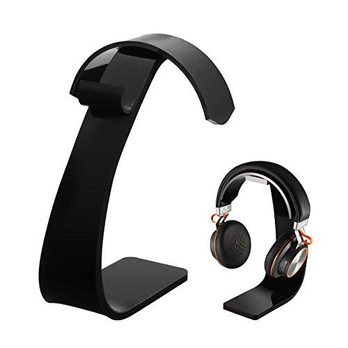 Headset Halterung, ELEGIANT Kopfhörer Ständer Headsethalter Universaler Headset ständer Professioneller Kopfhörerhalter Headphone Halter holder aus Acrylic für alle Headset Kopfhörer