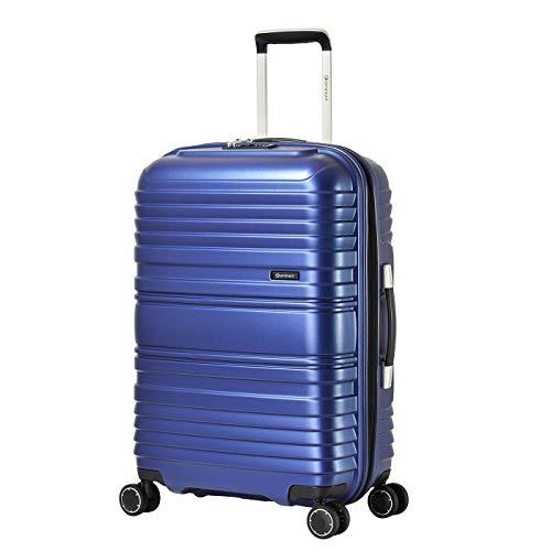 Eminent Handbagage Horizon 65 cm 72L Lichtgewicht TPO Recyclebaar materiaal 4 Stille dubbele wielen Blauw
